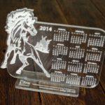 Календарь из оргстекла с гравировкой