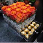 Акриловый бокс для цветов с выдвижным ящиком