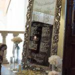 План рассадки гостей на зеркальном оргстекле