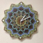 Часы с печатью на оргстекле